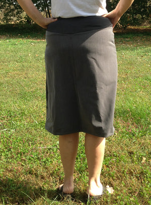 maternity skirt back