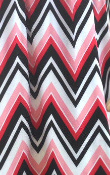 pink white and black zigzag