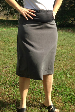 maternity skirt grey
