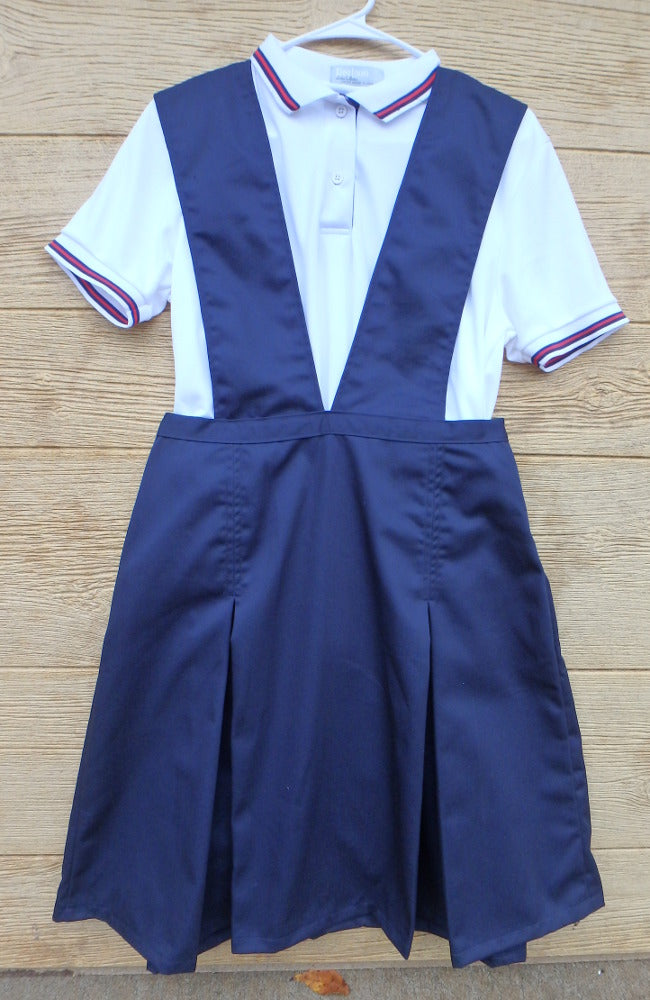 Modest School Uniform Jumper With pleated skirt -Ladies/Adult navy twill Size 22