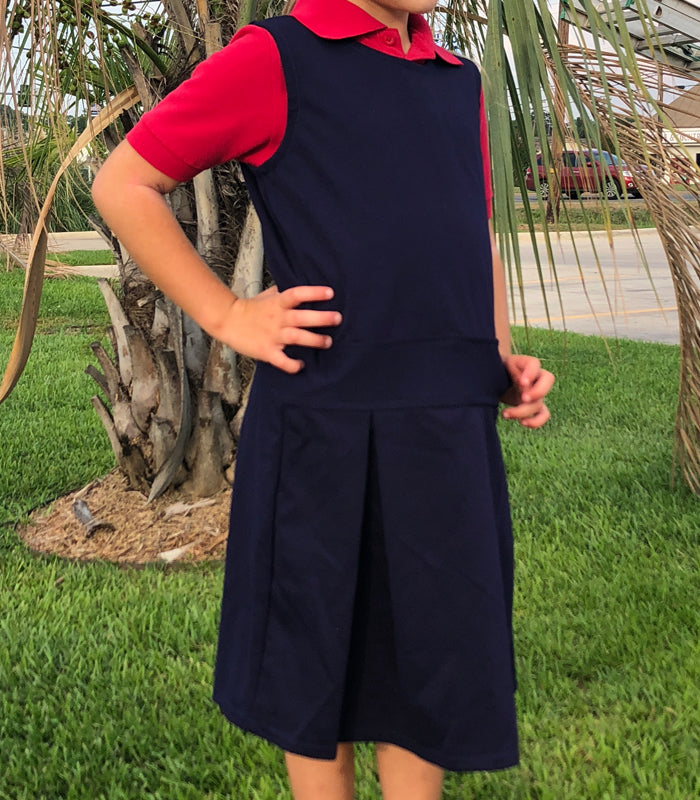 Girls Pleated Uniform Jumper for Kingston Christian Academy-Shreveport LA