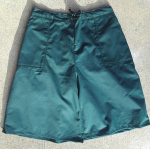 drawstring culotte in hunter green