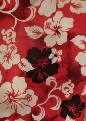 red floral print for swimming culottes