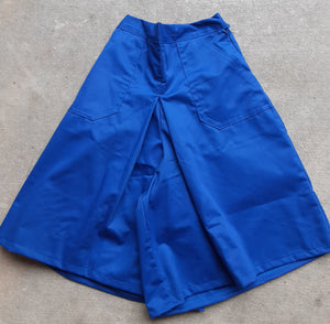 Girls / child Culottes Box Pleat  - Denim And Colors