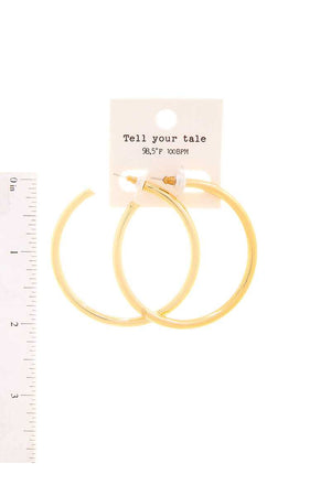Trendy Fashion 2 Inch Open Hoop Earring