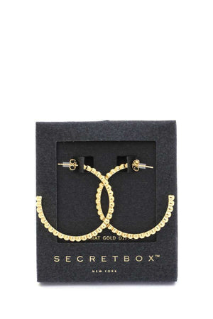 Secret Box Scallop Edge Open Circle Earring
