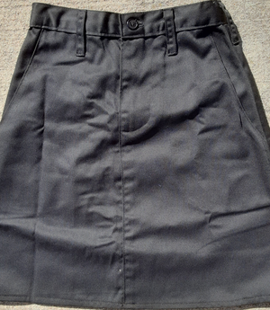 Twill School Uniform Skirt with pockets -Child size 4Toddler black