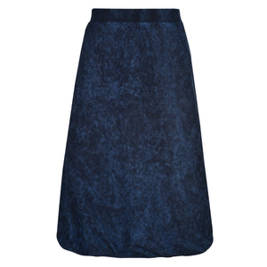 Knee Length Mineral Wash Skirt