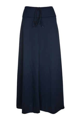 Child maxi drawstring skirt-Navy size 8