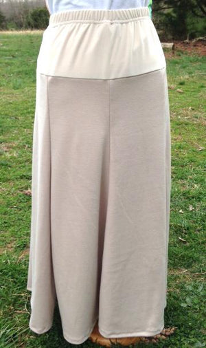 Long Twill Maternity Skirt