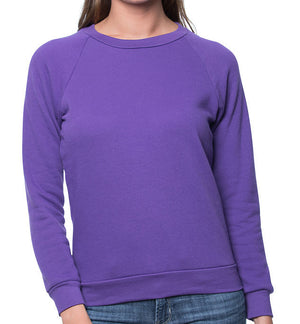 Long Sleeve Women's Raglan fleece Pullover-Made in USA