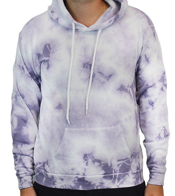 American Made ADULT Cloud Tie Dye Hoodie With Kangaroo pocket