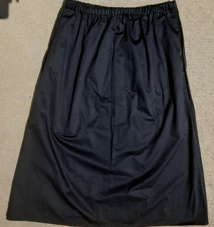 Ankle length twill skirt no slit 1XL grey or black