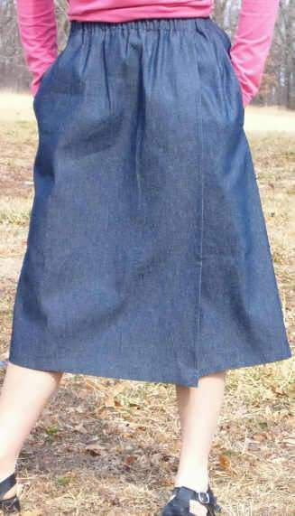 Girls Modest denim skort -XS -XXL