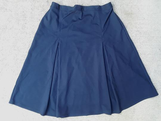 Girls Pleated School Uniform Skirt in ponti knit-navy child size 8
