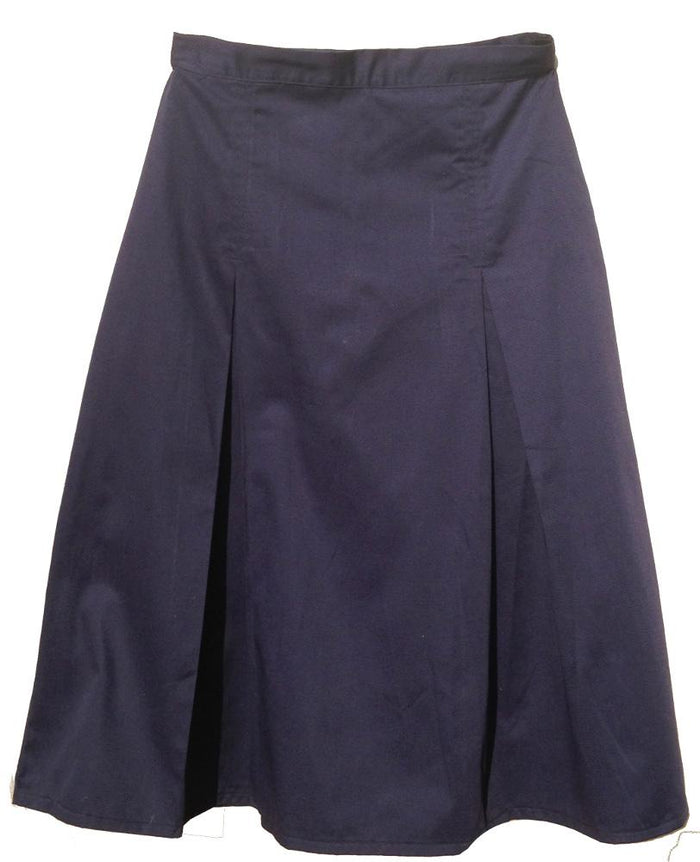Modest Pleated School Uniform Skirt - size 20 navy
