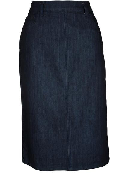 Simple denim skirt with side zipper