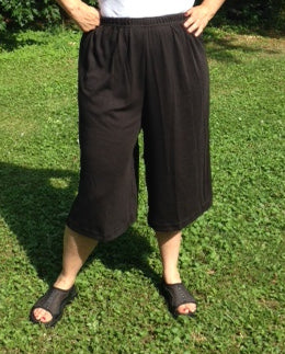 Knit culotte in black