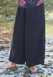 long knit culottes