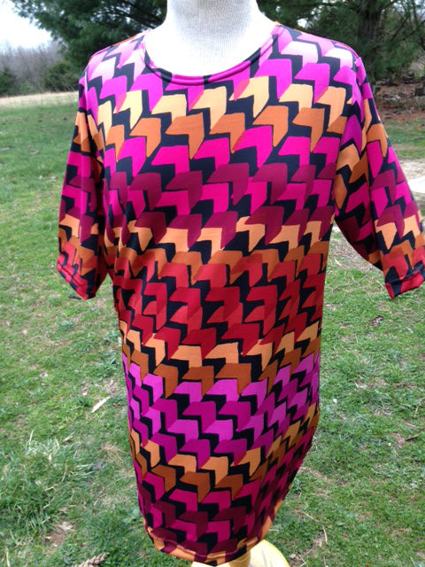 Maternity Top red and orange print
