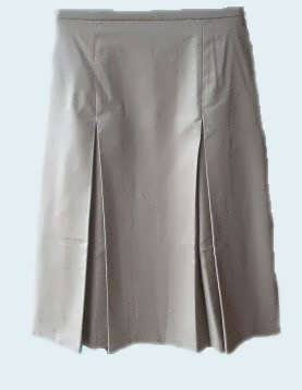 Modest Pleated School Uniform Skirt - khaki size 18