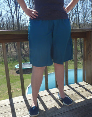 Teal gym and swimming culotte