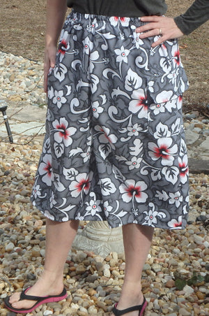 Girls Print Swimming Culottes