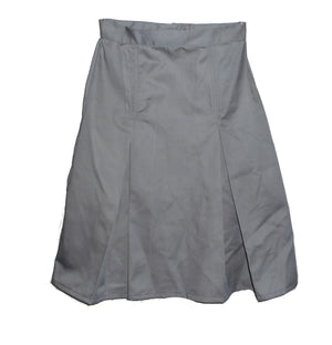 grey pleated uniform skirt