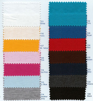 Interlock knit color chart