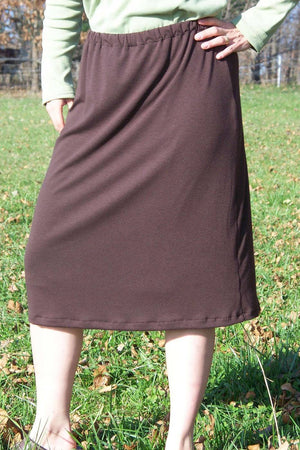 Chocolate Knit Skort