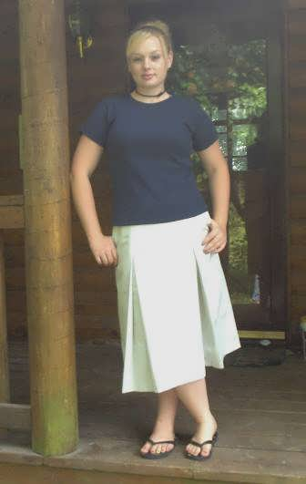Modest Pleated School Uniform Skirt  with Elastic Waist- Adult Sizes