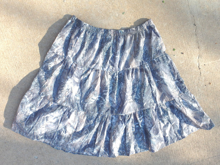 Camoflague Printed Prairie Skirt-2XL