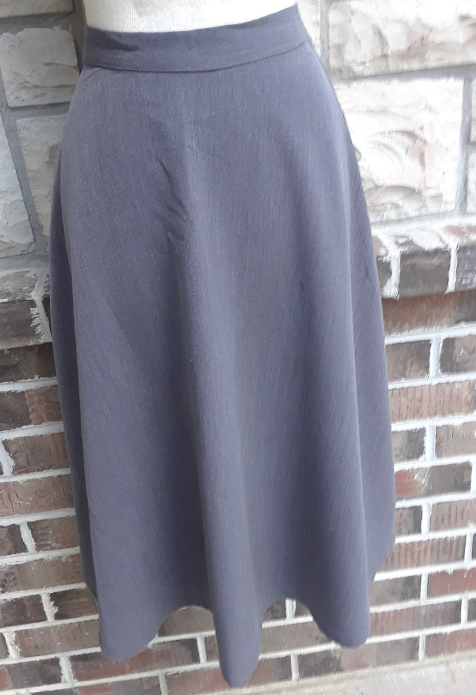 Long Fitted full A-line Skirt in Grey size 12