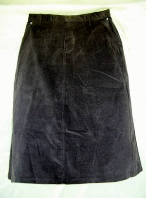 Long Brown Skirt - Cotton - No Slit - Size 16 - SALE