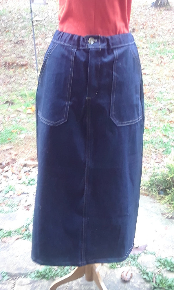 Long Everyday Denim Skirt