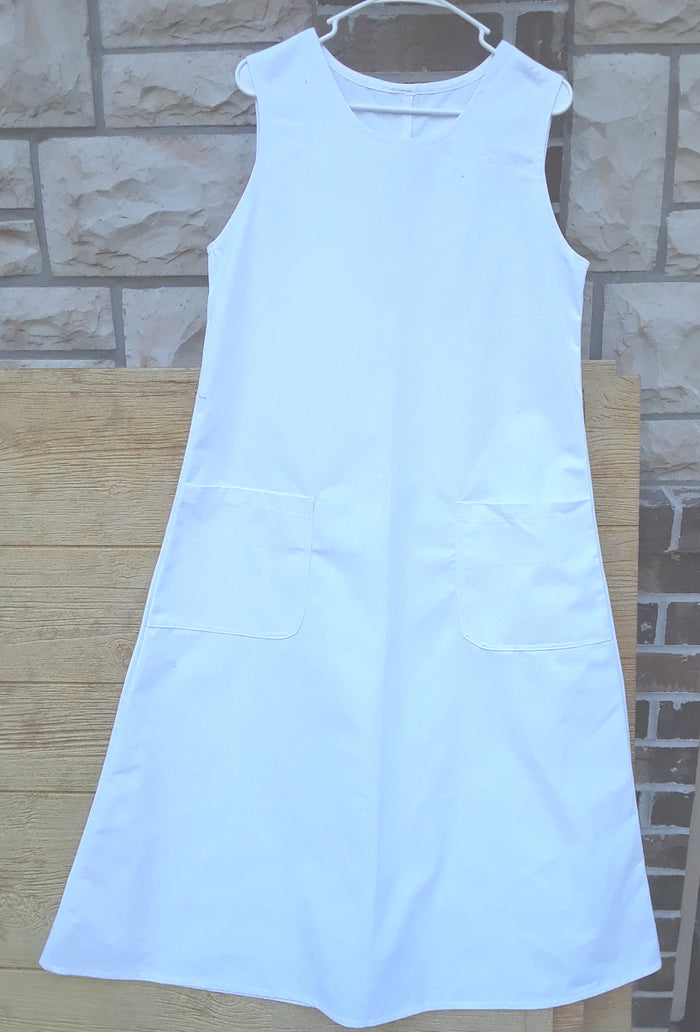 Modest Ladies School Jumper Dress - white 2XL