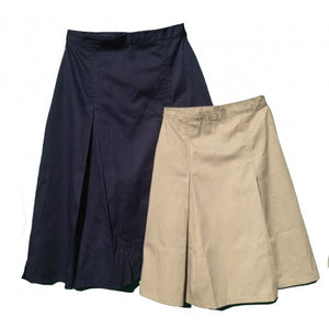 pleated uniform skirt khaki and navy twill