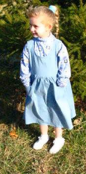 Girls Traditional Denim or Twill Jumper - Gathered Skirt