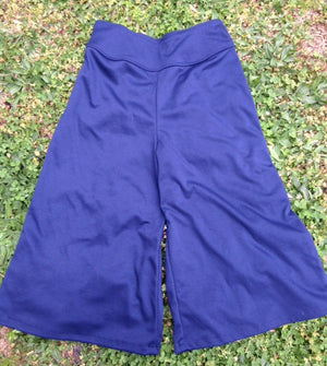 navy ponte knit gaucho no pockets