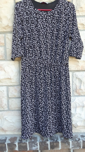 black and white polka dot  dress-medium