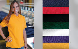 Basic cotton pique knit polo shirt
