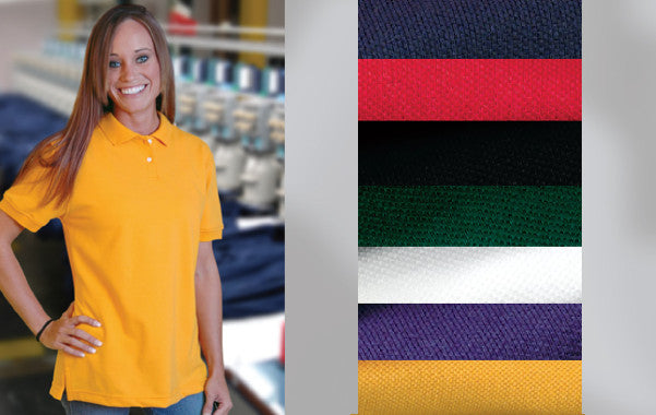 Ladies Cotton Pique Knit Polo