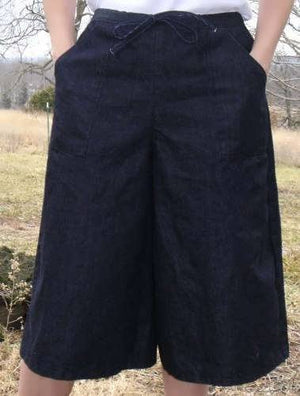 Denim Drawstring Culotte