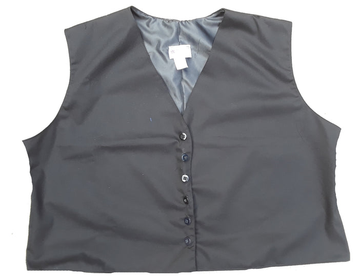 Modest Twill Uniform Vest -black 3XL and 4XL