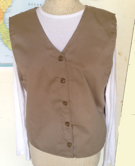 Modest Twill Uniform Vest