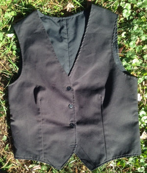 School uniform vest with darts
