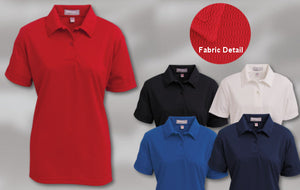ladies moistrue management polo shirt