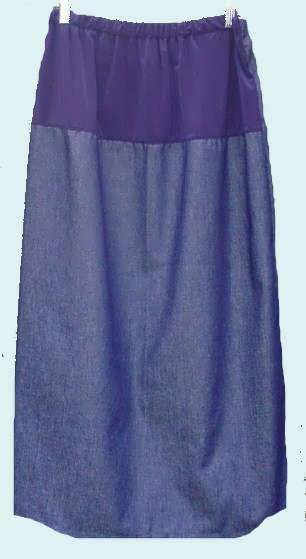 Long  Maternity Skirt With Back Slit-SALE