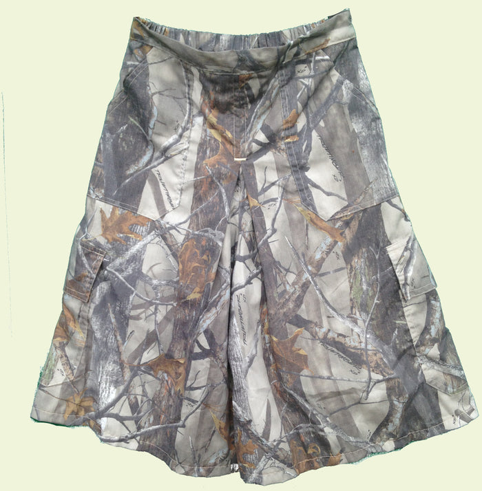 Culottes Box Pleat -CAMO-