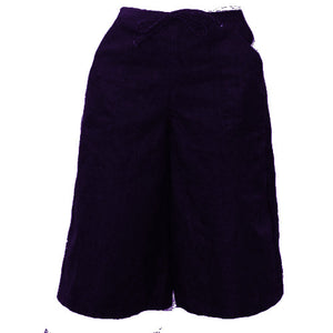 drawsting culotte navy twill